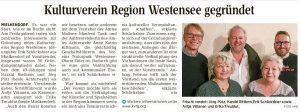 Gründung Kulturverein Westensee